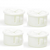 "Bag of 4 WHITE Hole Trim Plugs (5/8"")"