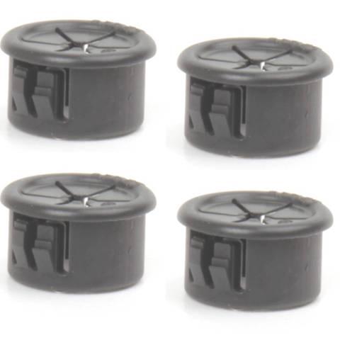 """Bag of 4 BLACK Hole Plugs (5/8"""")"""